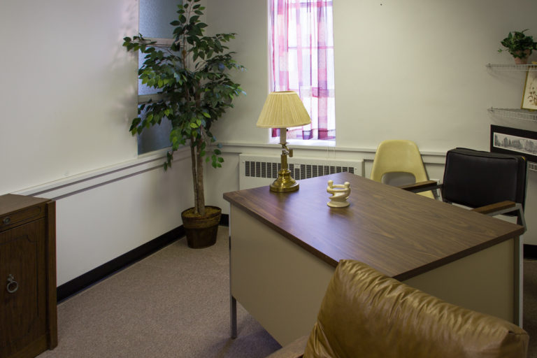 The Education Building has 3 floors. Space available measures 1,600 square feet (1st and 2nd floors) and 1,230 square feet (basement). The 2nd and 3rd floors combine a common area flanked by cozy office/classroom spaces.